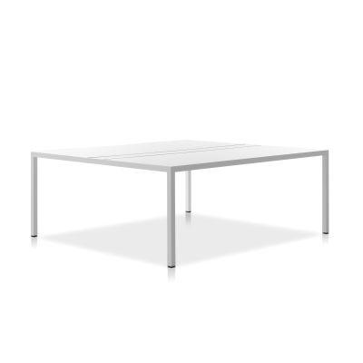 Desk 3.0, Front Seat and Cable Management Top HPL Black Top & Matt Graphite Grey Frame, 180x220cm