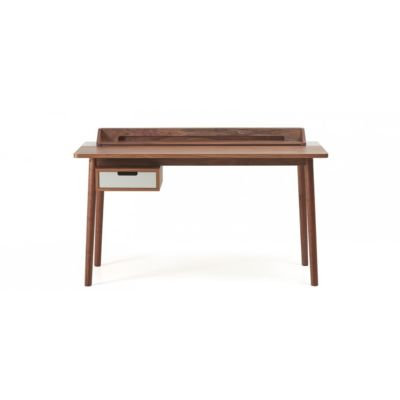 Desk Honoré Light Grey, Walnut