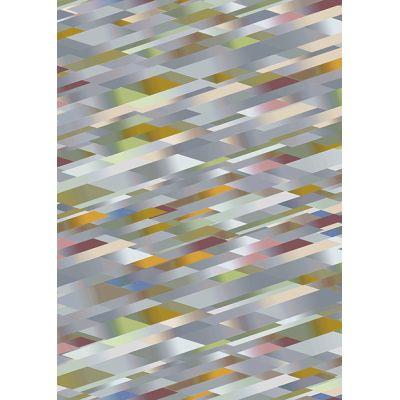 Diagonal Gradient Rug Pink, Wool, 200 x 300 cm