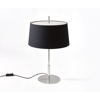 Diana Menor Table Lamp Satin Nickel, Black