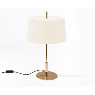 Diana Table Lamp Brass Finish, White