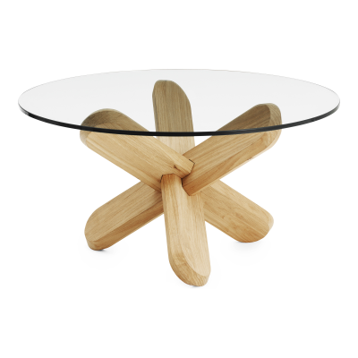 Ding Coffee Table Glass, NC Oak