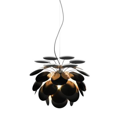 Discoco Pendant Light Ral 9004-Gold, 53cm, 200cm