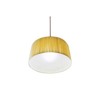 Divina Pendant Lamp White plissé, Large