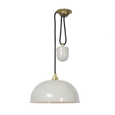 Dome Rise & Fall Pendant Light 7300 Putty Grey