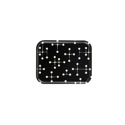 Dot Pattern Classic Tray - Set of 5 Reverse Dark, Large