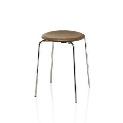 DOT Stool - Set of 2 Walnut leather