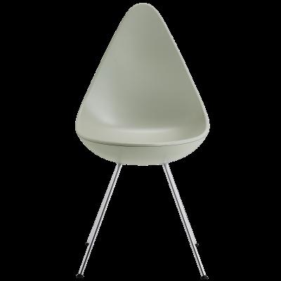 Drop Chair Drop Stone Grey, Chromed Steel