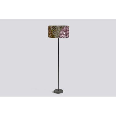 Drum Lamp Shade with Cast Floor Base Knit Fabric