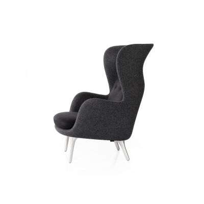 Ro Easy Chair With Aluminium Legs - Designer Selection Black