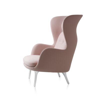 Ro Easy Chair With Aluminium Legs Elegance Leather Black