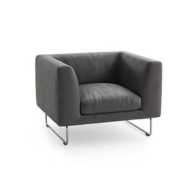 Elan Armchair Pelle Extra Leather Extra 983, Polyurethane Foam, 120cm
