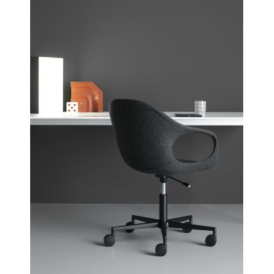 Elephant 5 Spoke Base with Castors - Upholstered  Seat Cuoietto 500, Polished