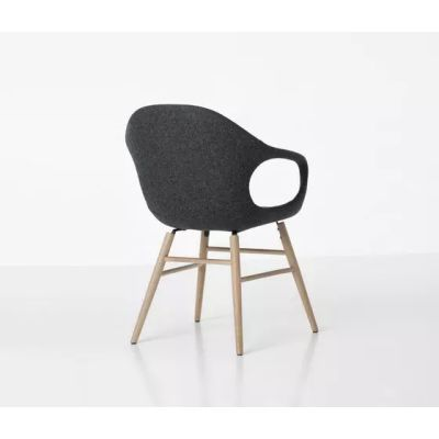 elephant wooden base armchair upholstered seat beech cuoietto 500