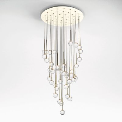 Elettra Chandelier Elettra 20, Lumen Polished Brass