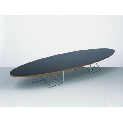 Elliptical Table ETR HPL white, Base powder-coated in basic dark
