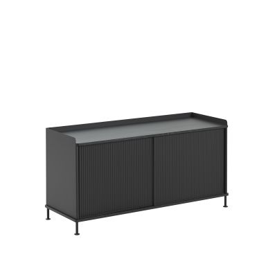 Enfold Sideboard 124.5 x  45 x 62, Black/Black