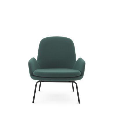 Era Lounge Chair, Low Sørensen Ultra Leather Black Brown - 41590, Walnut Veneer