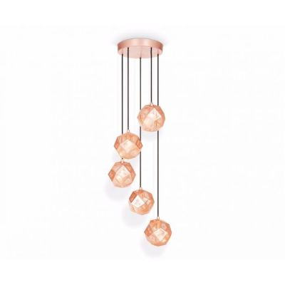Etch Mini Chandelier Copper