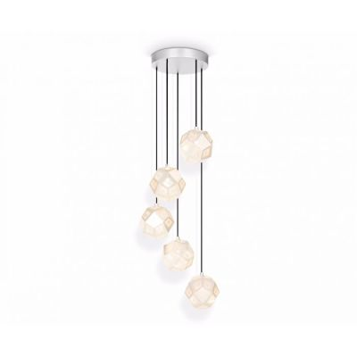 Etch Mini Chandelier Soft Silver