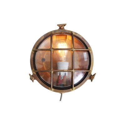 Evander Wall Light Natural Brass, Frosted Glass