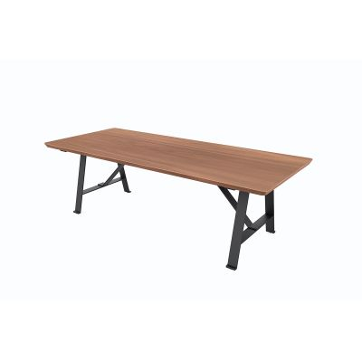Exchange Dining Table 240 x 100 x 74, Wood Soap Finished Walnut