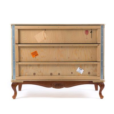 Export Comò 3 Drawers Wooden Chest Base