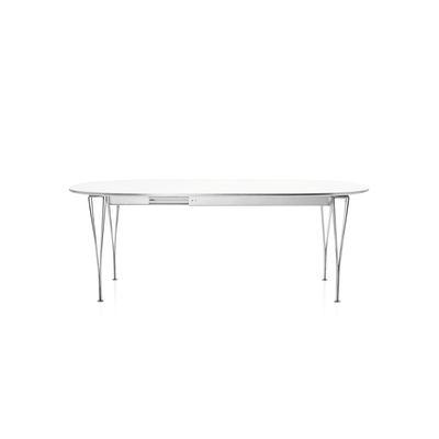 Extendable Table Laminate Standard Colour White 120 x 180/300 Chromed