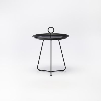 Eyelet Tray Side Table Black, 45cm