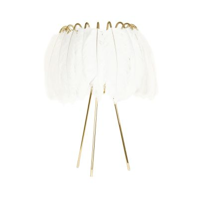 Feather Table Lamp  White Feather Table Lamp