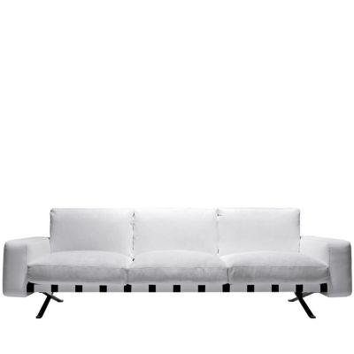 Fenix 2 - Three-Seater Sofa Churchill - Antracite, Cairo - Bianco 01