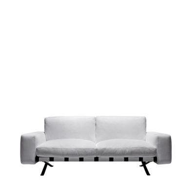 Fenix 2 - Two-Seater Sofa Churchill - Antracite, Cairo - Bianco 01