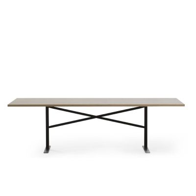 Ferric Dining Table Natural Oak, White - RAL 9003, 210cm