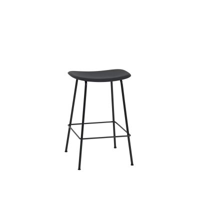Fiber Bar Stool Tube Base - Unupholstered Black/Black, 65