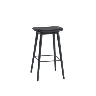 Fiber Bar Stool Wood Base Upholstered Wooly koks 1002, 75
