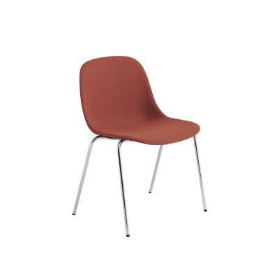 Fiber Side Chair / A-Base Upholstered With Linking Device - With Felt Wooly koks 1002