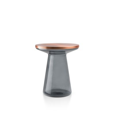Figure Side Table Gray & Copper