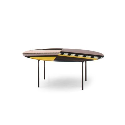 Fishbone Oval Table 68 x 54 x 50, Stardust, Version 1