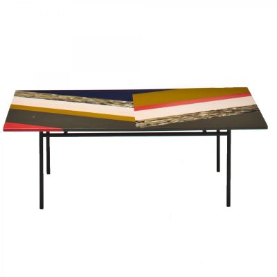 Fishbone Rectangular Table 68 x 108 x 60, Stardust, Version 1