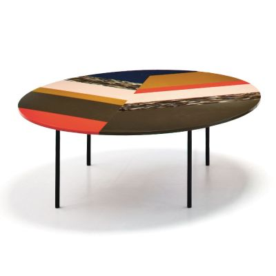 Fishbone Round Table 95 x 60, Stardust, Version 1