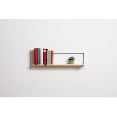 Fläpps Rectangular Shelf White, 80x27-1