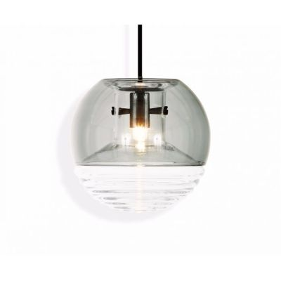 Flask Ball Pendant Light Smoke