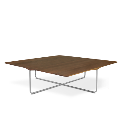 Flint Square Coffee Table Matt Lacquered Walnut, Large