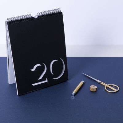 Flip Calendar Flip Perpetual Calendar Black & White