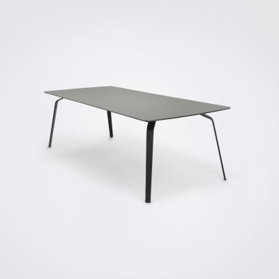 Float Dining Table Ash Grey Linoleum, 240cm