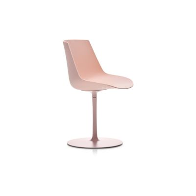 Flow Chair, Central Leg, Mass Pigmented Powder Pink