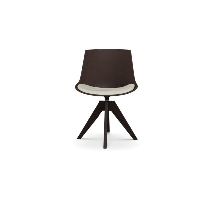 Flow Eco Chair, VN 4 Legs, Oak Base Beech Shell & Oil-Stained Natural Oak Frame, Rami Col 6810