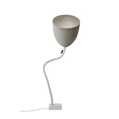 Flower Cemento Floor Lamp Silver