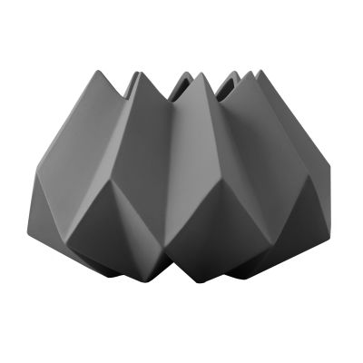 Folded Vase Carbon, Low