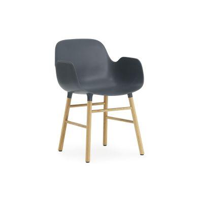 Form Armchair - Ex display Blue, NC Oak